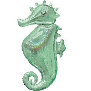 Mermaid Wishes Seahorse SuperSize Balloon - 38