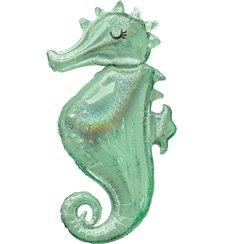 "Mermaid Wishes Seahorse Balloon - 38"" Foil"