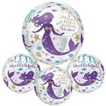 "Mermaid Wishes Balloon - 15"" Orb"