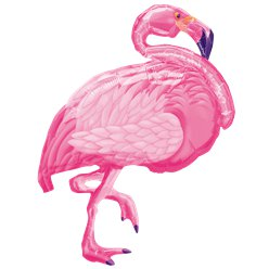 "Pink Flamingo SuperShape Balloon - 35"" Foil Balloon"