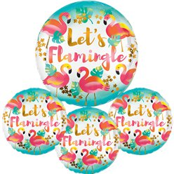 "Let' Flamingle Balloon - 18"" Foil"