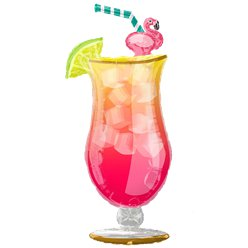 "Tropical Drink SuperShape Balloon - 41"" Foil"