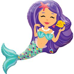 "Mermaid Supersize Balloon - 38"" Foil"