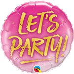 "'Let's Party' Balloon - 18"" Foil"