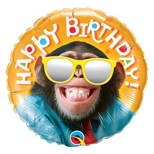 'Happy Birthday' Smiling Chimp Balloon - 18