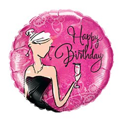 "'Happy Birthday' Black Dress Balloon - 18"" Foil"