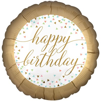 "Confetti Fun 'Happy Birthday' Balloon - 18"" Foil"