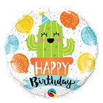 "Birthday Party Cactus Balloon - 18"" Foil"