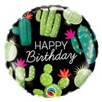 "Happy Birthday Cactus Balloon - 18"" Foil"