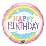 "Happy Birthday Rainbow Balloon - 18"" Foil"