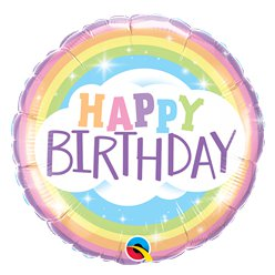 Happy Birthday Rainbow Balloon - 18