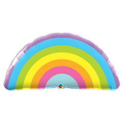 Radiant Rainbow Supershape Balloon - 36