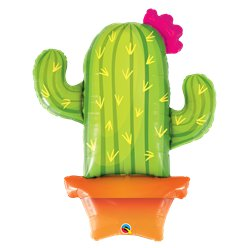 "Potted Cactus Supersize Balloon - 39"" Foil"