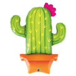 "Potted Cactus Supershape Balloon - 39"" Foil"