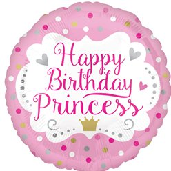 Happy Birthday Princess Balloon - 18