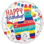 "Piñata Happy Birthday Balloon - 18"" Foil"