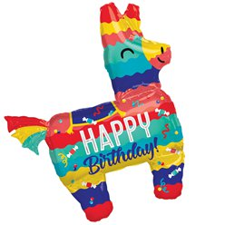 "Piñata Happy Birthday Supershape Balloon - 33"" Foil"