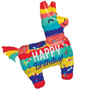 Piñata Happy Birthday SuperShape Balloon - 33