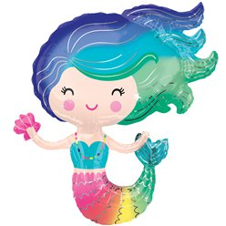 "Mermaid SuperShape Balloon - 30"" Foil"
