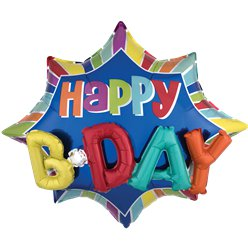 "Happy Birthday 3D Supershape Balloon - 35"" Foil"