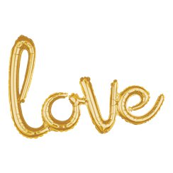 "Gold Love Phrase Balloon - 31"" Foil"
