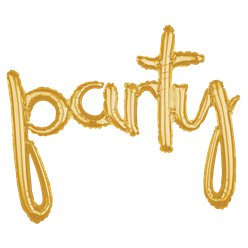 "Gold Party Phrase Balloon - 39"" Foil"