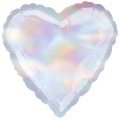 "Iridescent Heart Balloon - 18"" Foil"
