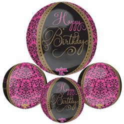 "Happy Birthday Orbz Balloon - 16"" Foil"