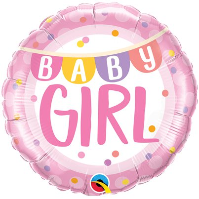"Baby Girl Bunting Balloon - 18"" Foil"