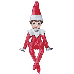 "Sitting Elf on the Shelf Balloon - 29"" Foil"