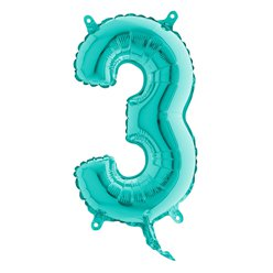 Tiffany Blue Number 3 Balloon - 14