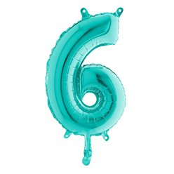 Tiffany Blue Number 6 Balloon - 14