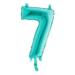 Tiffany Blue Number 7 Balloon - 14