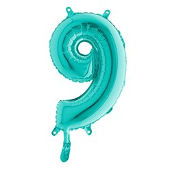Tiffany Blue Number 9 Balloon - 14