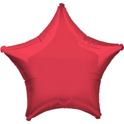 "Metallic Red Star Balloon - 19"" Foil - Unpackaged"
