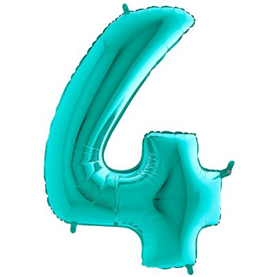 Tiffany Blue Number 4 Balloon - 40