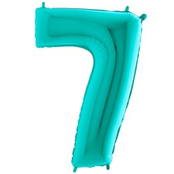 "Tiffany Blue Number 7 Balloon - 40"" Foil"