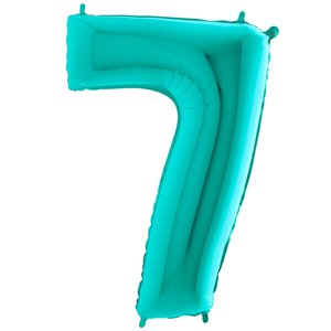 Tiffany Blue Number 7 Balloon - 40