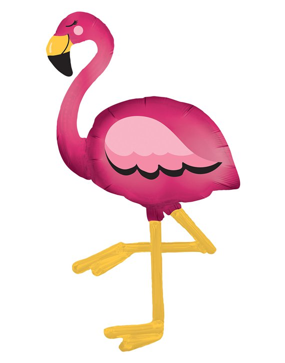 "Flamingo Airwalker Balloon - 68"" Foil"