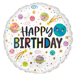 "Galaxy Happy Birthday Balloon - 18"" Foil"