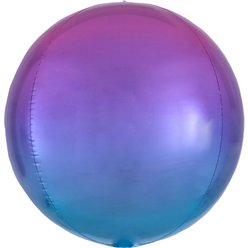 Ombre Red & Blue Orbz Balloon - 16