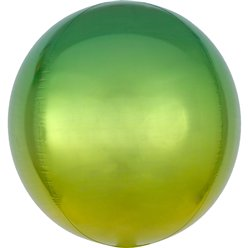 "Ombre Yellow & Green Orbz Balloon - 16"" Foil"