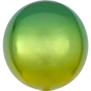 Ombre Yellow & Green Orbz Balloon - 16