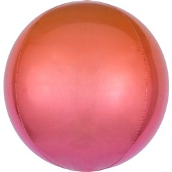 Ombre Red & Orange Orbz Balloon - 16