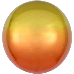 Ombre Yellow & Orange Orbz Balloon - 16