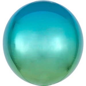 Ombre Blue & Green Orbz Balloon - 16
