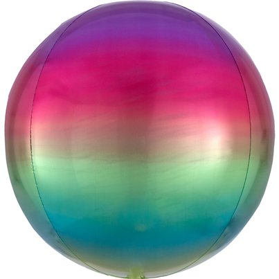 Ombre Rainbow Orbz Balloon - 16