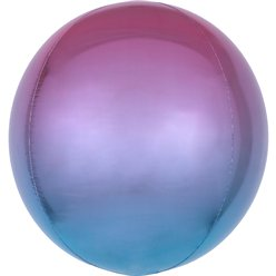 "Ombre Purple & Blue Orbz Balloon - 16"" Foil"
