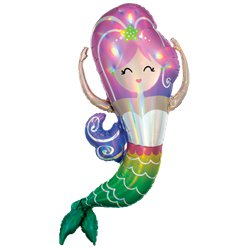 "Mermaid Iridescent SuperShape Balloon - 41"" Foil"