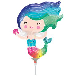 "Mermaid Mini Airfilled Balloon - 9"" Foil"